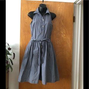 Michael Kors sleeveless button down flare dress 2
